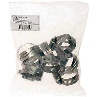 Jubilee HT040P High Torque Clip 304 S/S 25 - 40Mm (Pack Of 10): Automotive