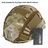 OneTigris Camouflage Cover 01 Without Helmet 500D Cordura Nylon Cover for OneTigirs Fast MH/PJ Helmet in Size S/M (Multicam)