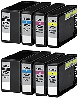 8 (2 SETS) Compatible PGI 1500XL Ink Cartridges For Canon Maxify MB2000  MB2050