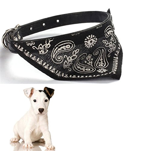 Gotd Halloween New Pet Dog Cat Puppies Collars Scarf Neckerchief Necklace Triangle (Black) (Cat Dog Halloween)