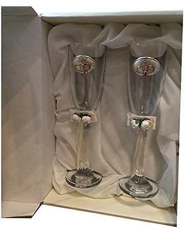 Curia grabador Copas 50 Aniversario Personalizadas con Grabado en Cristal