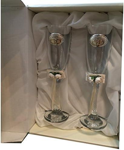 Curia Grabador Copas 50 Aniversario Personalizadas con Grabado en Cristal: Amazon.es: Hogar