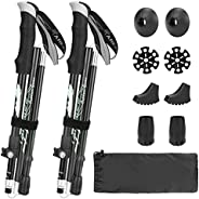 Hiking Poles, Number-one Collapsible Trekking Poles 2 Pack Ultralight Aluminum Alloy Walking Sticks with EVA G