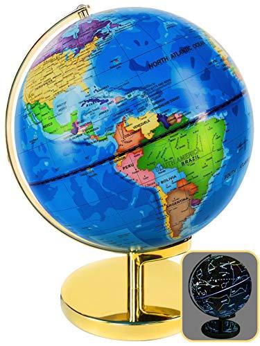 World Globe 3 in 1 - LED Night Light Globe - Illuminated Constellation - 9