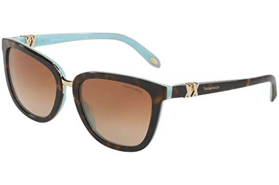 Amazon.com: Tiffany & Co tf4123 55 mm anteojos de sol Havana ...