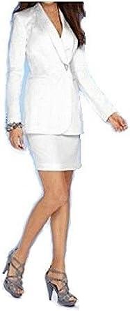 Heine - Traje con Falda - para Mujer Blanco Blanco 40: Amazon.es ...