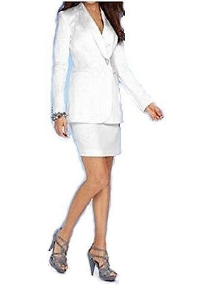Heine - Traje con Falda - para Mujer Blanco Blanco 40 ...