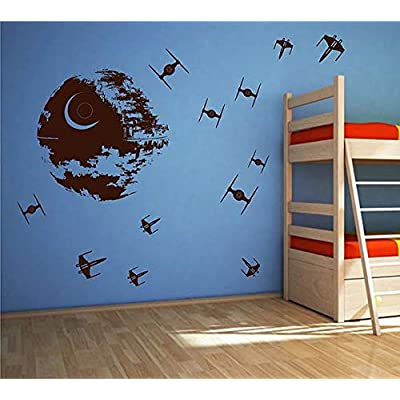 STICKERSFORLIFE ik2726 Wall Decal Sticker Death Star Star Wars Space Ships Nursery Teenager: Home & Kitchen