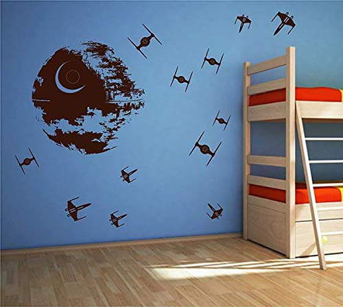ik2726 Wall Decal Sticker Death Star Star Wars Space Ships Nursery Teenager StickersForLife
