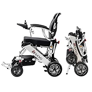 2018 NEW electric wheelchair - weighs only 50 lb with battery - supports 330 lb. new upgrade more secure and stable.Power Chair Optional headrest available. by Innuovo