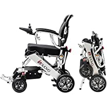 2018 NEW FDA Approval Electric Power Wheelchair - weighs only 50 lbs with battery - supports 295 lb. New upgraded with more secure and stable.