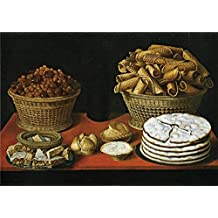 The Polyster Canvas Of Oil Painting 'Hiepes Tomas Dulces Y Frutos Secos Sobre Una Mesa First Third Of 17 Century ' ,size: 12 X 17 Inch / 30 X 43 Cm ,this Art Decorative Canvas Prints Is Fit For Gift For Relatives And Home Gallery Art And Gifts