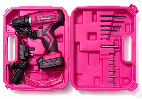 Nordstrand Pink Cordless Drill Set - Electric Screwdriver Power Driver Kit for Women - 12V Rechargeable Li-Ion Battery… 3