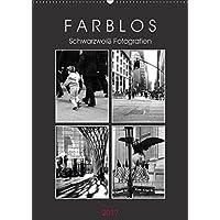 F A R B L O S  -  Schwarzweiß Fotografien (Wandkalender 2017 DIN A2 hoch): Monochrom (Monatskalender, 14 Seiten ) (CALVENDO Orte)