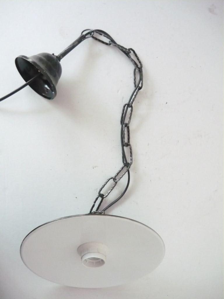 Arterameferro - Lámpara de techo de hierro forjado con plato ...