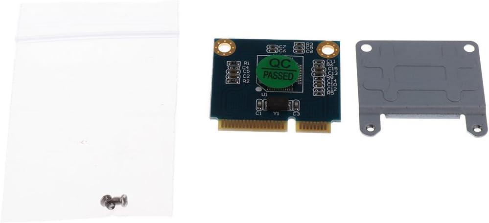 Dual TF Card to Mini Pcie CI-E with Half Bracket Memory Card Reader