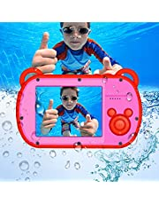 Underwater Camera for Kids,HD 1080P Waterproof Kids Camera,Video Recorder Action Preschool Camera,8X Digital Zoom Camera with Flash and Microphone Sticker