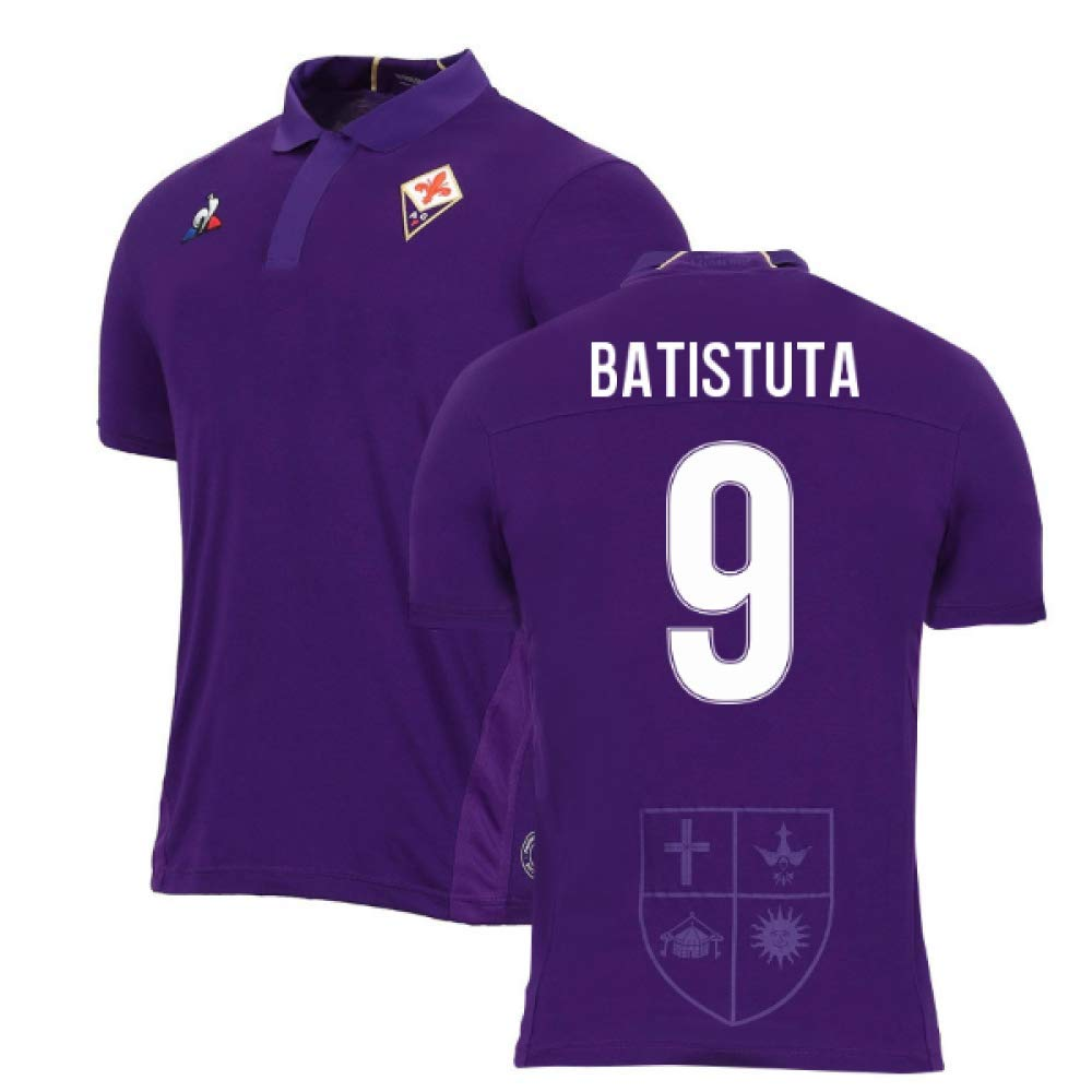 2018-2019 Fiorentina Home Football Soccer T-Shirt Trikot (Gabriel Batistuta 9)