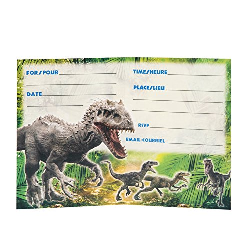 Amazon Com Jurassic World Party Invitations 8ct Toys Games