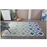 Fashion Geometry Home Rugs - MeMoreCool Seven Patterns No Fading Anti-slipping Simple Style Living Room Tea Table Carpets 63 X 91 Inch
