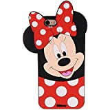 """CHOCOCASE Mouse Case for iPhone 6 iPhone 6s Regular Size 4.7"""" Screen 3D Cartoon Cute and Protective Polka Dots Drop Resistant Kids Teens Girls Gift"""