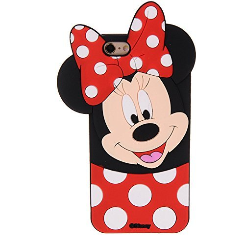 Mouse Case for iPhone SE / iPhone5 / iPhone5s Soft Silicone Material Protective 3D Cartoon Cute High Fashion Stylish Kids Teens Girls Women Protective ()