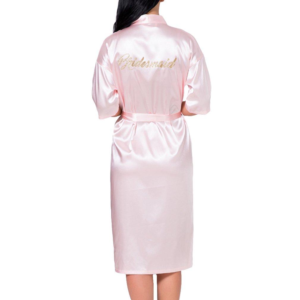 WEIMEITE Kimono T/únicas para Dama de Honor y Novia Wedding Party Prepar/ándose Long Robe Maid of Honor Robes