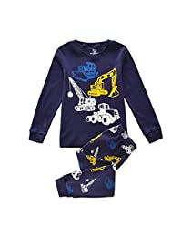 Boys Pajamas Childrens Pjs Set 2 Piece 100% Cotton Size 2-7 Years