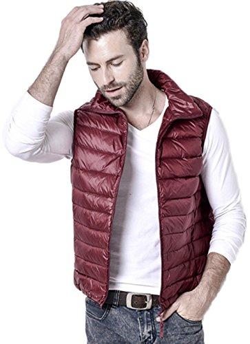 Caldo Outwear 6 Colore Giacca Leggero Packable Corto Invernale Santimon Mens Disponibile Cappotto Giù Rosso Panciotto Gilet x8Oaz7