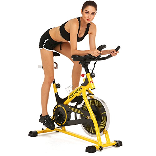 Spinning Bike Spin Pro Indoor Cycling Bike with Pulse for Health and Fitness (yellow)