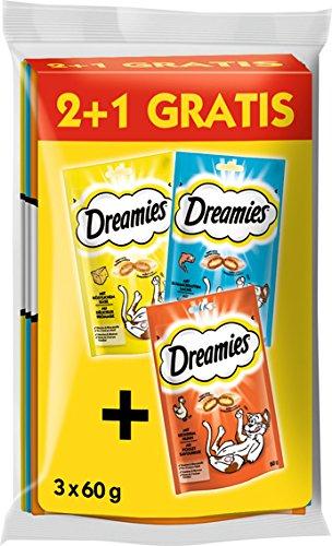 Dreamies Katzensnacks 2 plus 1 Gratis, 9 Beutel (3 x 3 x 60 g)