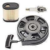 Venseri 590739 590637 590702 Recoil Starter with Air Filter Spark Plug for Tecumseh AV600 LEV80 LEV100 LEV115 LEV120 LEV150 LV195EA Lawn Boy Lawnmower