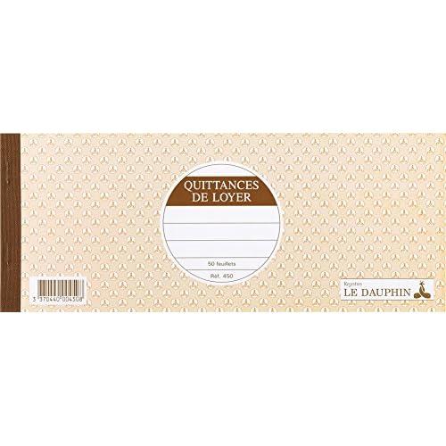 85OFF Le Dauphin Carnets Souche Quittance De Loyer Format 11x275 50