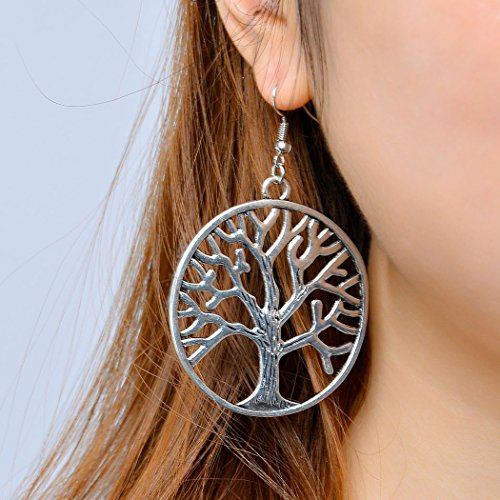 Jovono Earrings with Simple Alloy Tree for Women and - Versace Loop