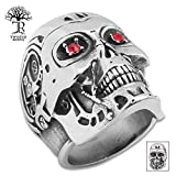 K EXCLUSIVE Twisted Roots Terminator Skull Ring – Size 10 For Sale
