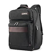 Samsonite Kombi Large Business Backpack with Smart Sleeve, Black/Brown, 17.5 x 12 x 7-Inch