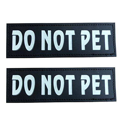 SGODA DO NOT PET Patch for Pet Vest and Harness, Large, 6""