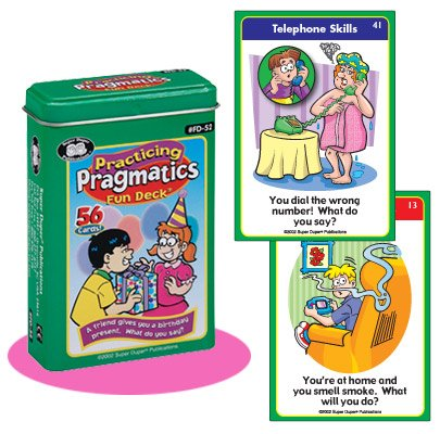Practicing Pragmatics Fun Deck Flash Cards – Super Duper Educational Learning Toy for Kids