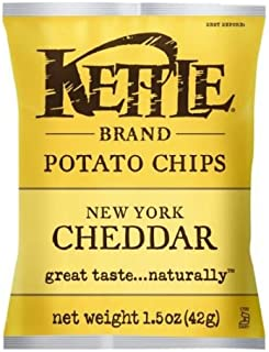 product image for Kettle New York Cheddar Potato Chips, 1.5 Ounce - 64 per case.