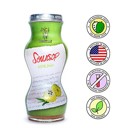 Healthee Soursop Guabanaba Graviola Juice 100% Pure Juice 6 fl oz (12)