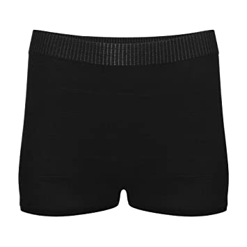 59562b205 Seamless Mesh Knit Underwear Postpartum Maternity Post Surgical Disposable  Women's Panties Brief 5 Count (Black