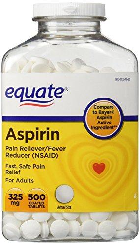 Aspirin 325 Mg Tab - Equate Aspirin 325 mg, Original Strength, 500 Coated Tablets, Pain Reliever (Compare to Bayer)
