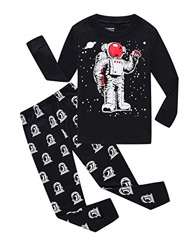 - Astronaut Little Boys Long Sleeve Pajamas 100% Cotton Clothes Toddler Size 4T