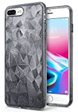 Apple iPhone 8 Plus Case Ringke [Air Prism Glitter] Sparkle 3D Contemporary Design Chic Ultra Lightweight Geometric Stylish Pattern Protective TPU Drop Resistant Cover for iPhone8 Plus - Glitter Gray