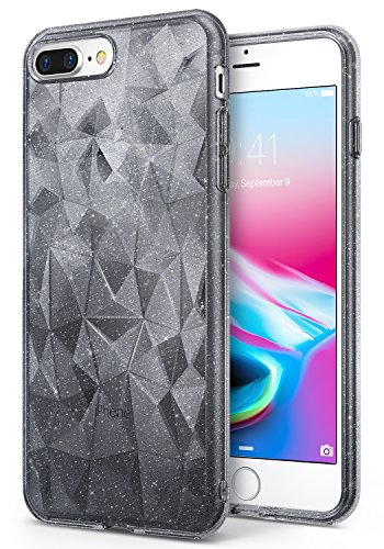Apple Iphone 8 Plus Case Ringke  Air Prism Glitter  Sparkle 3D Contemporary Design Chic Ultra Lightweight Geometric Stylish Pattern Protective Tpu Drop Resistant Cover For Iphone8 Plus   Glitter Gray