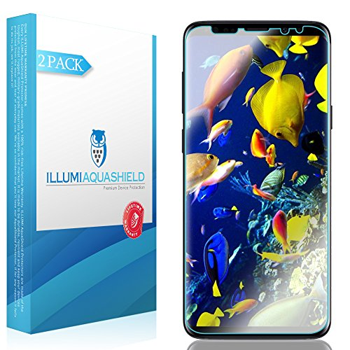 Durable Finish Surface (Galaxy S9 Plus Screen Protector [2-Pack], ILLUMI AquaShield HD Clear Anti-Bubble Film Screen Protector for Galaxy S9 Plus (Case Friendly Compatible))