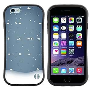 "Hypernova Slim Fit Dual Barniz Protector Caso Case Funda Para Apple (5.5 inches!!!) iPhone 6 Plus / 6S Plus ( 5.5 ) [Invierno Blanco Azul Nostálgico""]"