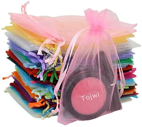 Amazon Com Tojwi 50pcs Organza Bags Mix Color 3 54 X4 33 9x11cm Satin Drawstring Organza Pouch Wedding Party Favor Gift Bag Jewelry Watch Bags Health Personal Care