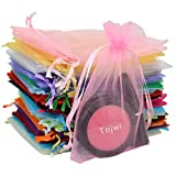 Arts & Crafts : Tojwi 50pcs Organza Bags-Mix Color 3.54''x4.33''(9x11cm) Satin Drawstring Organza Pouch Wedding Party Favor Gift Bag Jewelry Watch Bags