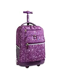 J World New York Sundance Rolling Backpack, Love Purple, One Size
